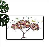 Anzhutwelve - Felpudo de Hule para niños, diseño de Caballo de Juguete, color14,...