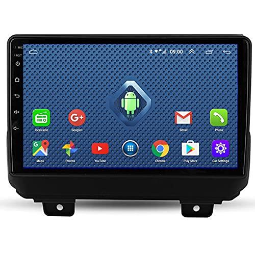 TIANDAO Android 10.0 9 Pulgadas Radio Satelital para Automóvil Reproductor Multimedia Autoradio 2.5D Navegador GPS para Jeep Wrangler 2018 con WiFi Bluetooth Control del Volante(Color:WiFi 4G+64G)