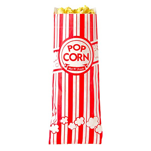 Concession Essentials CE Popcorn Bags-500 Popcorn Bags, 1 oz. (Pack of 500), 2 Height, 3 Width, 8 Length (Pack of 500)