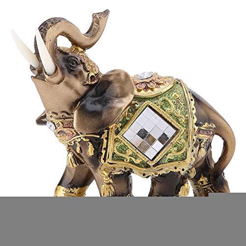 Glücklicher Feng Shui grüner Elefant Statue Skulptur Reichtum Figur Geschenk Heimdekoration (Grün Medium)