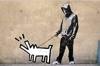 Banksy Keith Haring Barking Dog Photo Fridge Magnet 6x9cm