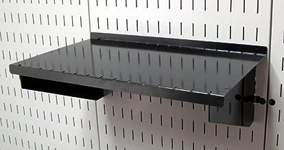 Wall Control Pegboard Shelf 9in Deep Pegboard Shelf Assembly for Wall Control Pegboard and Slotted Tool Board – Black
