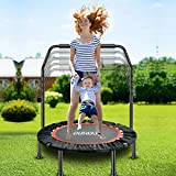 40' Foldable Mini Trampoline for Kids ,Rebound Exercise Trampoline with Safety Pad, Fitness...