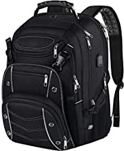 18.4 Laptop Backpack for Men, 55L Extra Large Gaming Laptops Backpack with USB Charger Port,TSA Friendly Flight Approved and RFID Anti-Theft Pocket