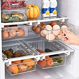 Cassetto portaoggetti frigorifero, Cassetto estraibile per frigorifero, Portaoggetti per frigorifero trasparente Ripiano Cestello durevole Contenitore per uova Frutta Verdura