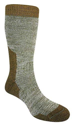 Bridgedale Mens Summit Merino Fusion Socks, X-Large, Olive with Sock Ring