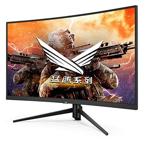 YILANJUN Monitor 27' (Full HD, 1920 x 1080 Pixeles, HDMI, Pantalla Curva 144hz 1ms 1800R, Filtro de Luz Azul y Protección para Los Ojos, 16:9), Color Negro