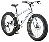 Mongoose Malus Adult Fat Tire Mountain Bike, 26-Inch Wheels, 7-Speed, Twist Shifters, Steel Frame,...