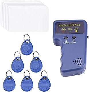 Goolsky Handheld 125KHz RFID ID Card Copier Writer Duplicator Programmer Reader Code Writable EM4305 ID Keyfobs Tags Card ...