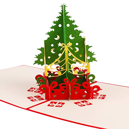 Reca Creations Handmade 3D Christmas Card, Pop Up Greeting Card, Merry Christmas Card for Holiday, New Year