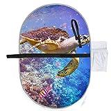 Schildkröte Eretmochelys Imbricata schwimmt unter Wasser Erwachsenen Windel Wickelauflage Wickelauflage Windel 27 x 10 Zoll wasserdicht faltbare Matte Baby tragbare Wickelstation Reise Wickelauflage