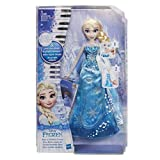 Disney La Reine des Neiges – Poupee Princesse Disney Elsa Robe Musicale - Version française - 30 cm - Exclusivité Amazon