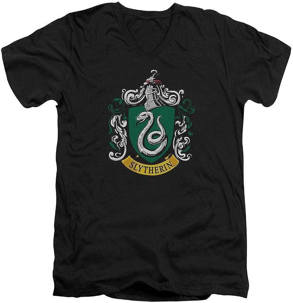 Harry Potter Slytherin Crest Adult V Neck T-Shirt