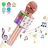 Wireless Karaoke Microphone, Ankuka 4 in 1 Handheld Bluetooth Microphones Speaker Karaoke Machine