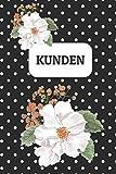 Kundenbuch, Design '011': Kunden Adressbuch für Kleingewerbe, Kleinunternehmer, Selbständige, Handwerker etc. | Erfasst 100 Kunden