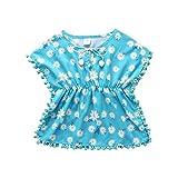 ChouZZ Juego de ropa de baño para niños y niñas, con borlas,...