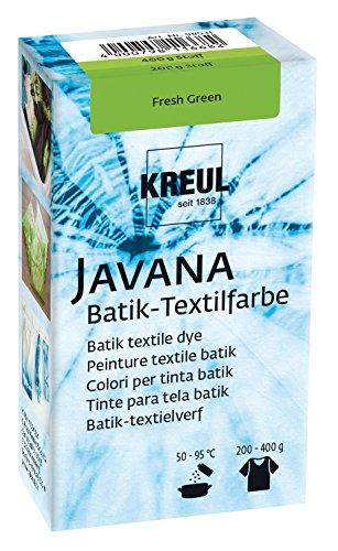 Kreul 98531 - Javana Batik Textilfarbe, zum Färben von Textilien mit der Shibori Technik, 70 g Farbpulver in Fresh Green