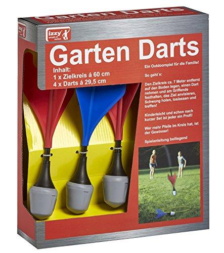 Izzy Dartspiel Garten Outdoor Rasendart 4 Sicherheitspfeile Zielring Sicherheitsdart Wurfspiel Kinderspiel Riesendart