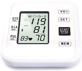 Life HS Electronic Superior del Brazo Esfigmomanómetro, con Pantalla LCD En Vivo De Voz De Difusión Humaine Superior del Brazo Monitor De Presión Arterial, 2-Usuario con Capacidad De Memoria 99