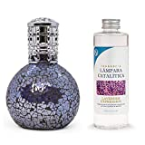 Antihumedades Pack lampara catalitica Mosaico Lila 200 ml + Fragancia 200 ml (Lavender Expression)