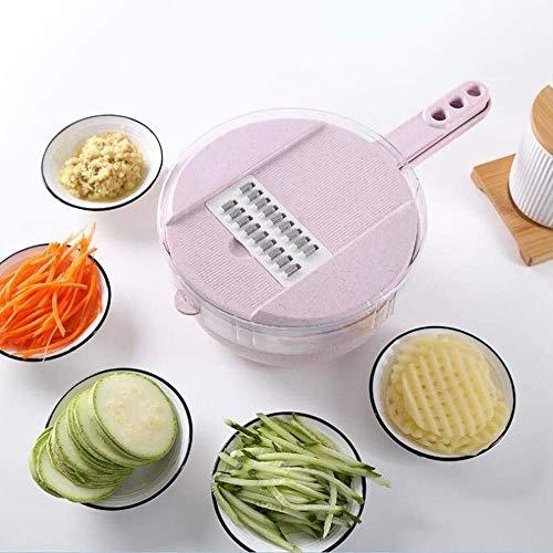 GJJSZ Panificadoras,Material de Paja de Trigo Cinturón multifunción para Vegetales Redondos Máquina portátil de Frutas y Verduras de Mano