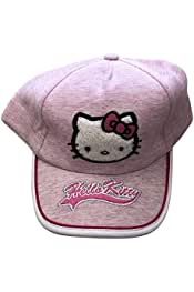 f29715f61 Infant Or Toddler Girls Hello Kitty Embroidered & Applique Summer Cap |  100% Cotton