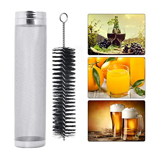Jadeshay Filtro per la Birra, Filtro per la Birra, Filtro per la filtrazione del Vino con Spazzola per la Pulizia, Filtro per la Produzione del Vino, Acciaio Inossidabile 304