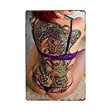muzi928 Hojalata de alcantarilla Tattoo Girl Letrero de Metal Placas Vintage Tienda de Tatuajes Cart...