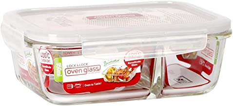 Lock & Lock Oven Glass Container with Divider - 950 ml