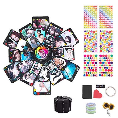 Kreative Überraschung Box Explosions Box DIY Faltendes Fotoalbum,Album Foto Geschenk für Graduation,Valentine's Day,Hochzeit Geburtstag Jahrestag Freund