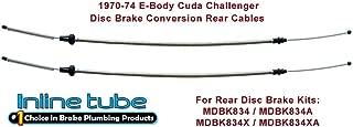Compatible With Mopar, 1970-74 E-body Cuda, Challenger Disc Brake Conversion Cables for 8 3/4
