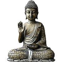 TEAYASON 仏像の彫刻、瞑想屋外屋内デスクトップ装飾アート装飾ガーデンパティオデッキポーチクラフト装飾-灰色17X23Cm(7X9インチ),グレー,17X23Cm(7X9インチ)