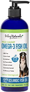 Deley Naturals Wild Caught Fish Oil for Dogs - Omega 3-6-9, GMO Free - Reduces Shedding, Supports Skin, Coat, Joints, Hear...