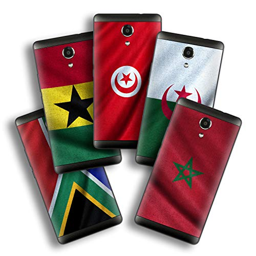 atFolix Designfolie kompatibel mit Wiko Robby, wähle Dein Lieblings-Design aus, Skin Aufkleber (Flaggen aus Afrika)