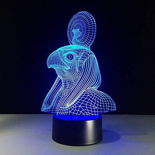HJW-CD 3D ägyptischen Sphinx Pharao nachtlicht Lampe 7 Farbwechsel led Touch USB Tisch Geschenk Kinder Spielzeug dekor Dekorationen Weihnachten Geburtstagsgeschenk