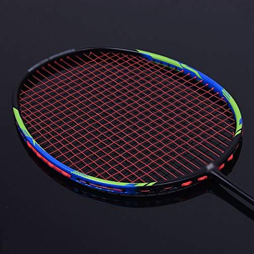 Raquette De Badminton Ultra Léger 6U Raquette De Badminton Haute Qualité Professionnel Plein Carbone Une Poignée Une-Pièce Couples Single Shot Hommes Et Femmes Compétition Raquette De Badminton