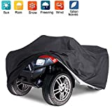 Waterproof ATV Quad Cover,Delixike Heavy Duty Power Bike Cover,Outdoor Windproof ATV Cover All Season Protectoin for Motorcycle, Honda,Polaris,Yamaha,Suzuki(Black/223 * 106 * 99cm)