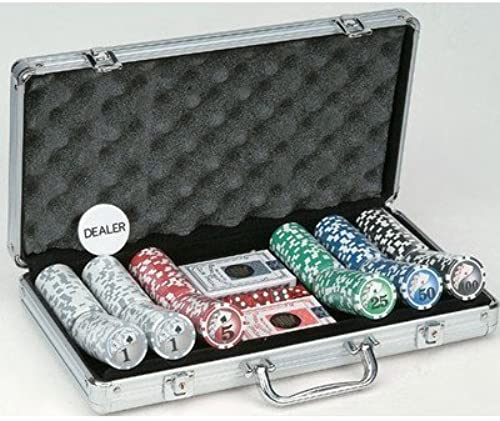Royal Flush Big Number Poker Set (300 Piece), 11.5g by Getting Fit