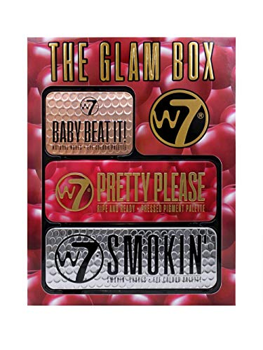 W7 | Gift Set | The Beat It Glam Box Gift Set | Three Unique Eyeshadow Tins