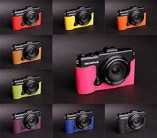 Handmade Genuine Real Leather Half Camera Case Camera bag for Olympus XZ2 XZ-2 10 colors