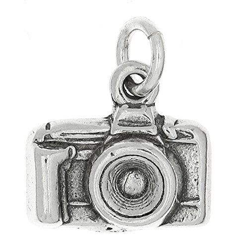 LGU Sterling Silver Oxidized Point and Shoot Camera Charm