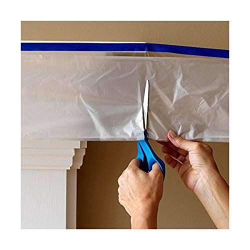 C&S Pretaped Drop Cloth 48 in x 75 ft with 18mm Blue Masking Tape Photo #5