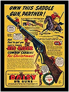 8 x 10 Photo Print All New Daisy Red Ryder Bb Gun 1940 Vintage Old Advertising Campaign Ads