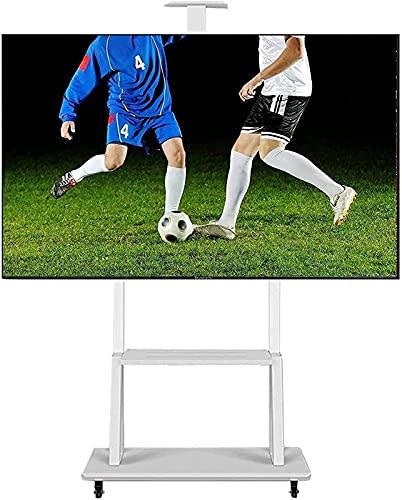 GDEVNSL Soporte de TV Mejorado con Ruedas de Bloqueo y Estante de Almacenamiento de cámara de Altura Ajustable para Carrito de TV móvil de Piso de TV de 70-32 Pulgadas