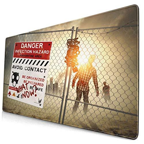 HUAYEXI Alfombrilla Gaming,Zombie Dead Man Walking Print,con Base de Goma Antideslizante,750×400×3mm