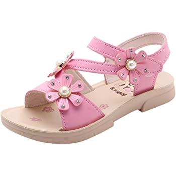 Little Girls Princess Shoes,Jchen Children Kids Baby Girls Bowknot Crystal Dance Single Princess Shoes Sandals for 3-12 Yrs