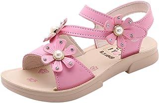 YWLINK Verano NiñOs NiñAs Bohemio Informal Flor Sandalias Princesa Zapatos Planos Zapatos De Playa Fiesta Al Aire Libre Antideslizante Fondo Blando CóModo Zapatillas De Deporte Regalo