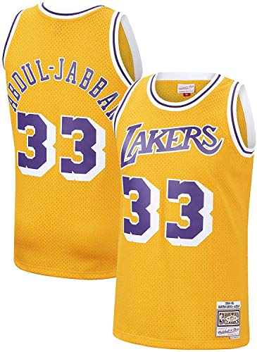 Mitchell & Ness Los Angeles Lakers 33 Kareem Abdul-Jabbar NBA Swingman - Camiseta de manga corta, color dorado
