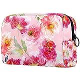 Bolsa de aseo grande portátil impermeable para guardar cosméticos de viaje, para colgar, maquillaje, organizador de maquillaje, artículos de tocador, color rosa
