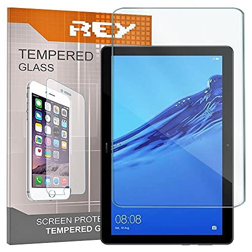 REY 2X Protector de Pantalla para Huawei MEDIAPAD T5 10.1', Cristal Vidrio Templado Premium, Táblet